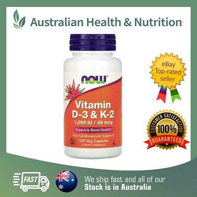 AU26.95 • Buy Now Vitamin D-3 & K2 Capsules High Strength // Choose Size + Free Shipping