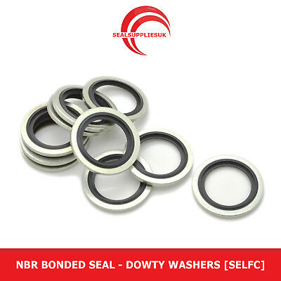 £15.26 • Buy NBR Bonded Seal - 1/4  BSP - Dowty Washers [Self Centralising]