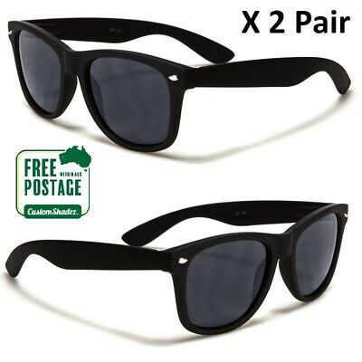 AU9.95 • Buy Classic Retro Sunglasses - Matte Black Frame - Mens / Womens- Free Shipping AUS