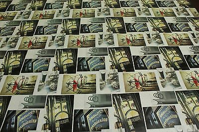 French Retro Cafe In Squares Vinyl Tablecloth Wipe Easy 140CM Wide • 11.98£