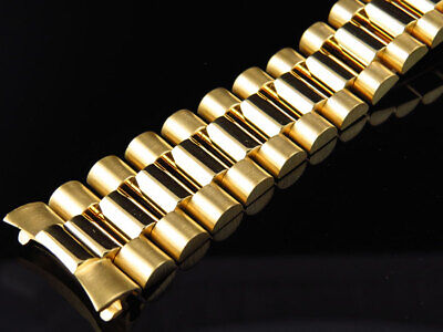 $ CDN5175.59 • Buy Mens President Watch Band For Rolex Day-Date In 14K Yellow Gold 20 MM 56 Grams