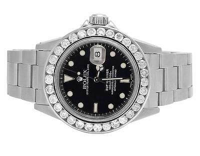 $ CDN16035.59 • Buy Mens Rolex Submariner 40MM 16610 Stainless Steel Black Dial Diamond Watch 5.0 Ct