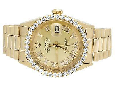 $ CDN17544.79 • Buy Mens Rolex 18K Yellow Gold Presidential Datejust 36MM Diamond Watch 3.5 Ct