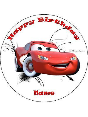 Lightning McQueen Edible Wafer Paper Birthday Cake  & 12 Cupcake Toppers #1 • 6.17£