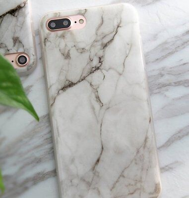 AU10.42 • Buy For IPhone 7+ / 8+ Plus - HARD TPU RUBBER CASE COVER WHITE BROWN MARBLE PATTERNS
