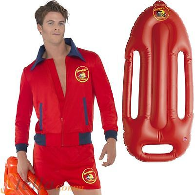 £38.98 • Buy Mens Baywatch Beach Lifeguard Costume 80s TV Fancy Dress Outfit & Float