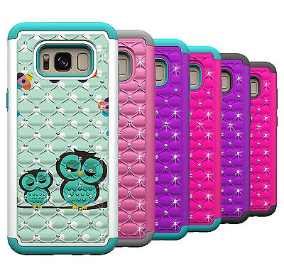 $ CDN5.23 • Buy For Samsung Galaxy S8 Plus Phone Case Hard & Silicone Hybrid Diamond Bling Cover