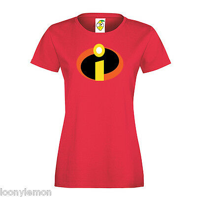 Teacher Gift , Mrs Incredible / The Incredibles Super Hero T Shirt Fancy Dress • 9.99£
