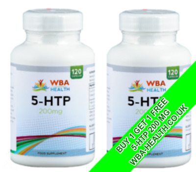 AU24.69 • Buy Double Strengh 5-htp 200mg 120 Capsules Depression Insomnia Anxiety Bogof