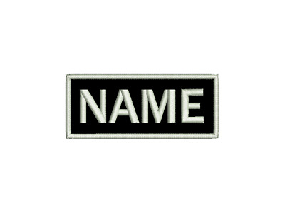 Embroidered Personalised Name Tag Patch Custom Made Hook Loop Iron Sew On Felt  • 8£