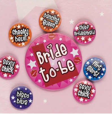 £2.09 • Buy 8pc Badge Set Bride To Be Hen Night Accessories  Party Favour Girls Night Out!!!