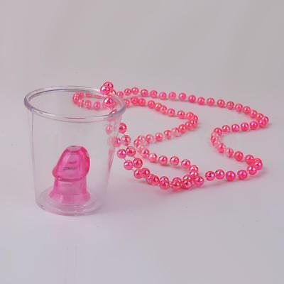 £18.99 • Buy 26 X Hen Party Do Willy Shot Glasses With Pink Necklace - Hen Party Accessories