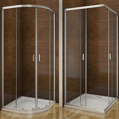 Aica Quadrant / Corner Entry Shower Enclosure And Tray Glass Door Screen Cubicle • 179.99£