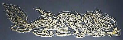 £2.49 • Buy GOLD DRAGON STICKERS X 2, CHINESE, Gold Outline *small Or Large* Left/Right Pair