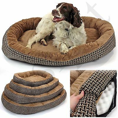 £14.99 • Buy Deluxe Orthopaedic Soft Dog Bed Pet Warm Basket Fleece Lining Cushion Puppy Cat