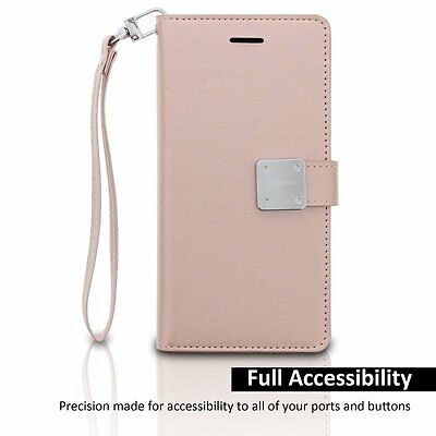 $ CDN13.34 • Buy For Samsung Galaxy S8 - Leather Card Wallet Diary Pouch Premium Case ROSE GOLD