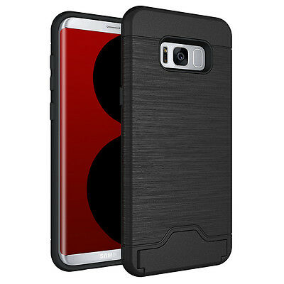 AU11.99 • Buy Galaxy S8/ S8 Plus Case, Card Holder KickStand Case Cover For Samsung S8/S8 Plus