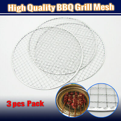 AU17.95 • Buy 3x BBQ Steel Grill Mesh Fish Meat 29.5CM Barbecue Wire Net Mat Outdoor Camping