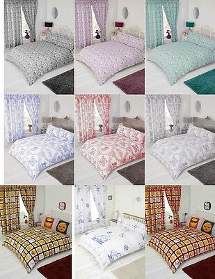 Modern Stylish Luxury Duvet Cover Sets Curtains Single Double King Super King • 16.99£