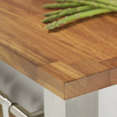Solid Iroko Wood Kitchen Worktops And Breakfast Bars, A1 Grade Timber Boards • 264.99£