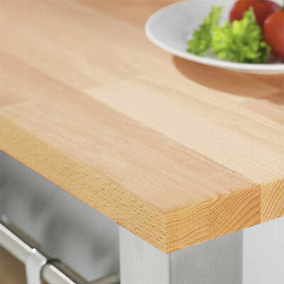 Solid Wood Prime Beech Timber Kitchen Worktops And Breakfast Bars, Lots Of Sizes • 164.99£