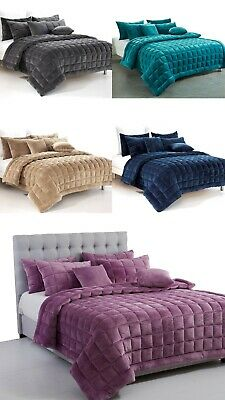 AU79.95 • Buy New Plush Faux Mink Augusta Quilt Set | Coverlet Set | Comforter Or Cushion