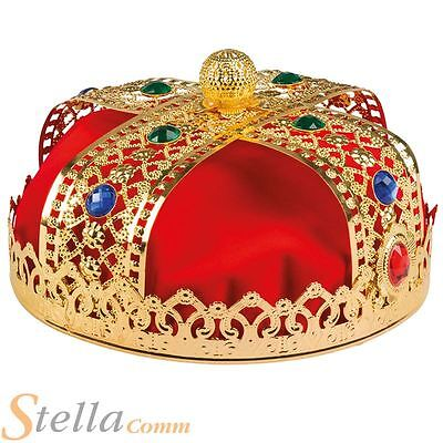 £12.99 • Buy Adult Deluxe Royal King Crown Prince Medieval Fancy Dress Costume Accessory