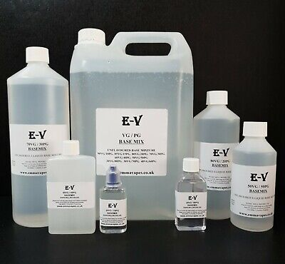 VG PG Base Highest Purity Various Mixes Available 80/20, 70/30, 50/50 Etc   • 10.49£