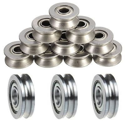 $6.86 • Buy 5pCS Ball Bearing Sealed Guide Wire Track U Groove Pulley Wheels Roller