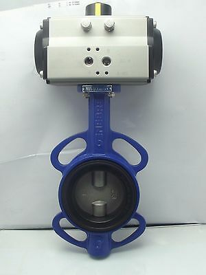 AU417.08 • Buy Pneumatic Actuated Butterfly Valve Wafer,Spring Return Fail Safe Close 2  To 4