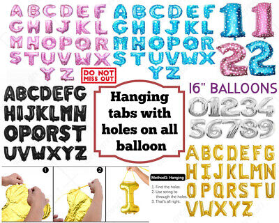 £1.27 • Buy ;Self Inflating 16  INCH Foil Number & Letters BALLOONS Happy Birthday Balloons
