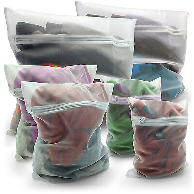 Zipped Mesh Laundry Bags Washing Net Wash Bags Underwear Clothes Socks Lingerie  • 4.29£