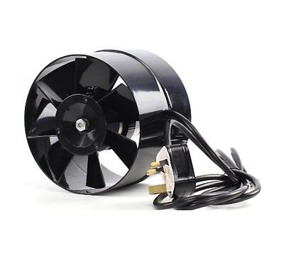 4 5 6  In Line Hydroponic Grow Room Air Input Tent Fan Green Room 100 125 150mm • 19.91£