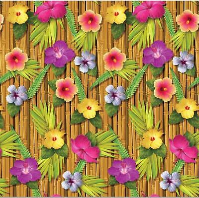 Luau Party Floral 30 Foot Backdrop Luau Party Background Luau Wall Decorations • 10.01£