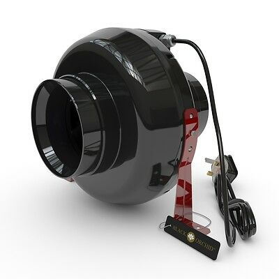 Black Orchid Inline Centrifugal Hydroponic Grow Room Extractor Fan 4 5 6 8 10 12 • 40.73£