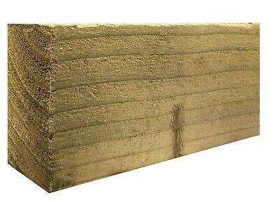 3  X 2  (75mm X 47mm) Pressure Treated Timber Boards - All Sizes - Fencing Rail • 40.95£