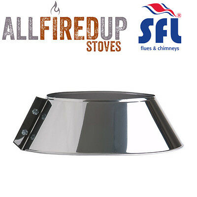 SFL Sflue Stainless Twin Wall Flue Pipe Twist Lock - Storm Collar • 18.23£