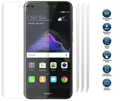 [3 PACK] TEMPERED GLASS LCD Screen Protector Guard Cover For HUAWEI P8 LITE 2017 • 2.95£