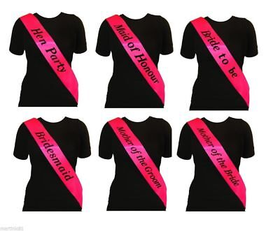 £0.99 • Buy Bright Pink Hen Party Sash Sashes Girls Do Night Out Accessories Wedding Bride!