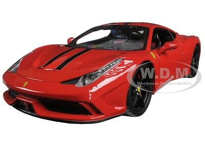 Ferrari 458 Red Speciale Signature Series 1:18 Diecast Model Car Bburago 16903 • 39.28£