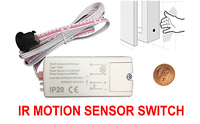 £14 • Buy Electronic IR MOTION SENSOR SWITCH TOUCHLESS ON/OFF Kitchen Cabinet Light Doors