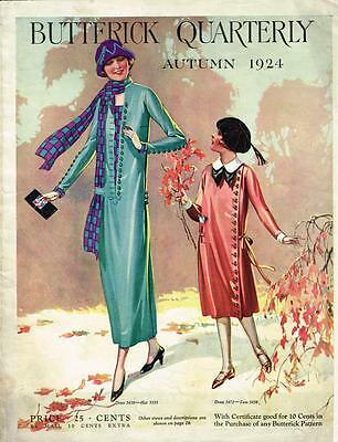 $13.46 • Buy 1920s Butterick Fall 1924 Quarterly Sewing Pattern Catalog 84 Pg E-book On CD
