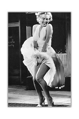 Iconic Marilyn Monroe Subway Shoot Poster Prints Wall Decoration Art Pictures • 19.99£