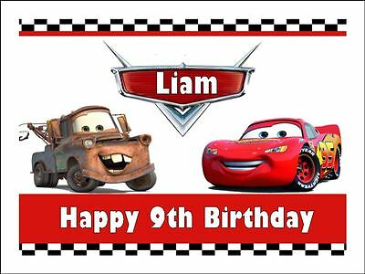 LIGHTNING McQUEEN Cake Topper Edible Icing Image Birthday Party Decoration #4 • 7.91£