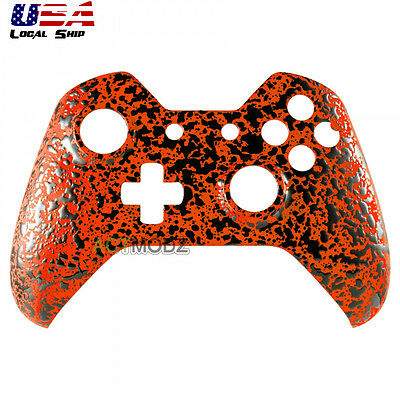 $12.35 • Buy Textured Orange Upper Shell Faceplate Protective Cover For Xbox One Controller