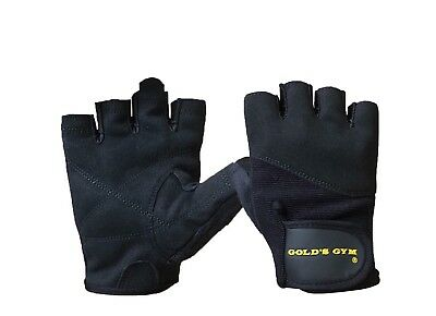 £5.99 • Buy Gold's Gym Weight Lifting Gloves Training Bodybuilding Fitness Workout Black