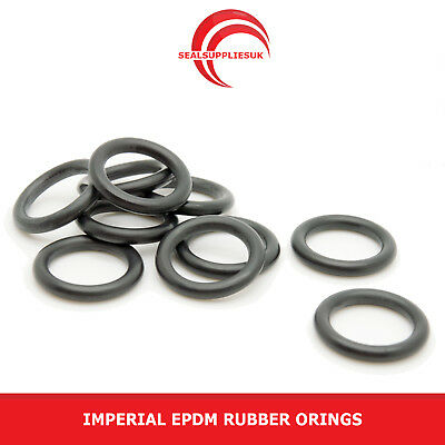 Imperial EPDM Rubber O Rings 1.78mm Cross Section BS001-BS031 - UK SUPPLIER • 1.96£