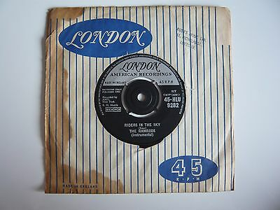 The Ramrods Riders In The Sky / Zig Zag UK 1960 London American 7  Vinyl Single • 2.99£