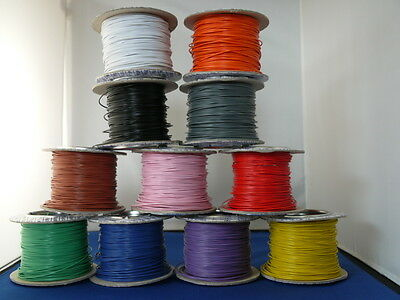 £1.50 • Buy 10m Solid Core 1/0.6 Equipment Wire 11 Colours Or 5m Red/5m Black