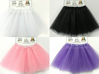 AU13 • Buy Tulle Tutu Skirt 80s Colour Women Costume Pale Pink Black White Lilac Ballet